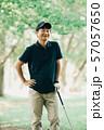 ゴルフ スポーツ 趣味 余暇 日本人ミドル男性 新緑 初夏 57057650