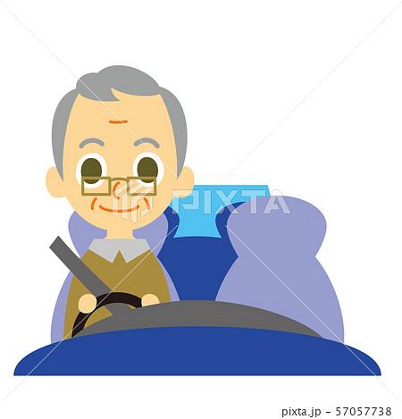 男性シニアドライバー 57057738