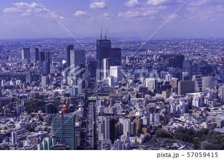 東京都市風景 渋谷方面 春 57059415