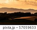 北海道・美瑛の丘 夕暮れ 57059633