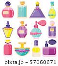 Perfume Toilet Water Bottles in Flat Design 57060671