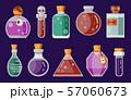 Potion Magic Bottles Fantasy Flat Gaming Icon 57060673