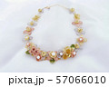 Necklace With Chiffon-Like Flowers, Sheer Petals 57066010