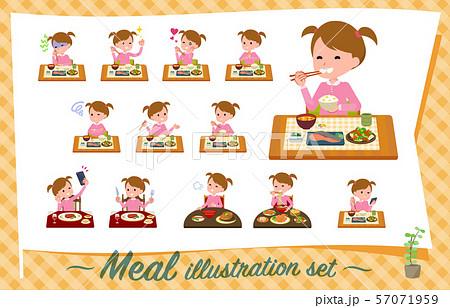 flat type Pink clothing girl_Meal 57071959