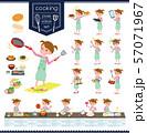 flat type Pink clothing girl_cooking 57071967