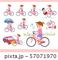 flat type Pink clothing girl_city cycle 57071970