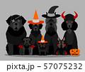 ハロウィーン 犬 グループ 57075232
