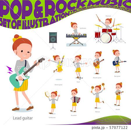 flat type Polka dot clothes girl_pop music 57077122