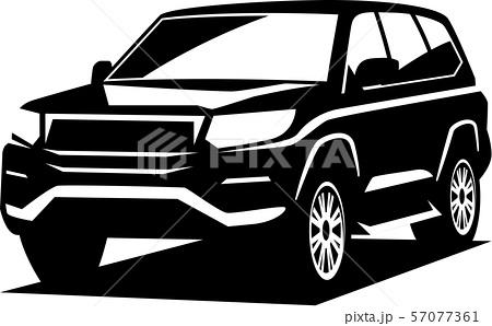 四駆自動車SUVシルエット 57077361
