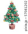 クリスマスツリー・装飾あり 57081202