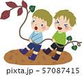 芋ほりのイラスト3 57087415