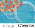 水輪 紅葉 水彩背景  57090439