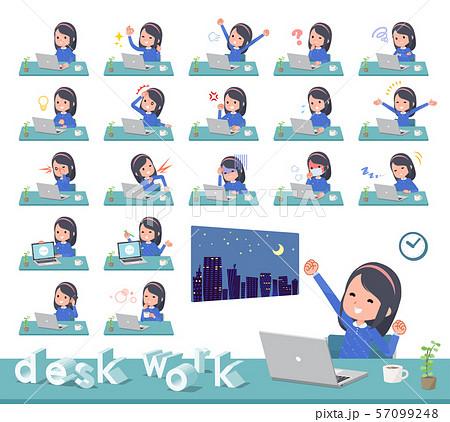 flat type Blue clothes headband girl_desk work 57099248