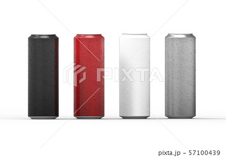 Color aluminum cans with water drops. 57100439