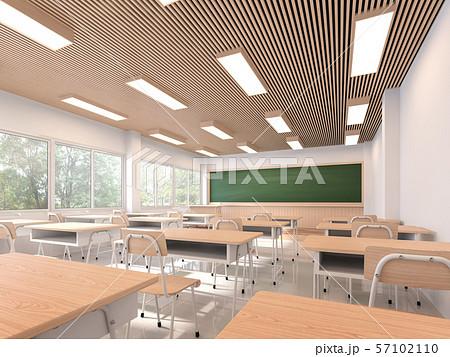 Modern contemporary classroom 3d render 57102110