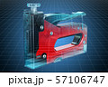 Visualization 3d cad model of powered stapler 57106747