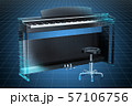 Visualization 3d cad model of digital piano 57106756