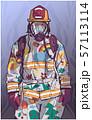 Firefighter illustration poster print shirt design 57113114