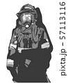 Firefighter illustration poster print shirt design 57113116