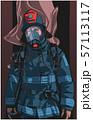 Firefighter illustration poster print shirt design 57113117