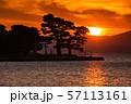 《島根県》宍道湖の夕景・夕日の名所 57113161