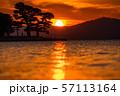 《島根県》宍道湖の夕景・夕日の名所 57113164
