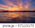 《島根県》宍道湖の夕景・夕日の名所 57113175