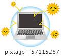 ウィルス対策をしているノートパソコンのイメージイラスト 57115287