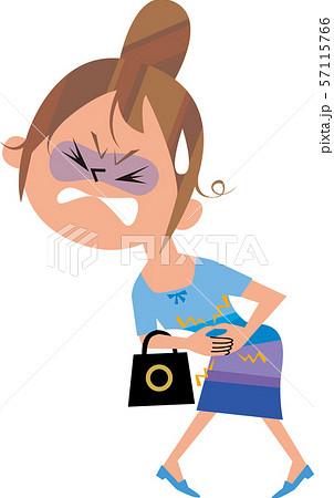女性の腹痛 57115766