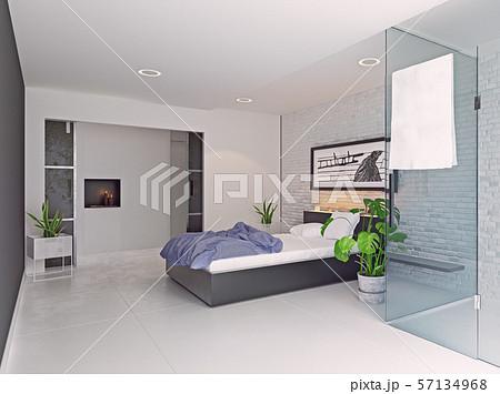 modern bedroom interior design. 57134968
