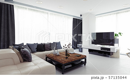 Modern living room design. 57135044