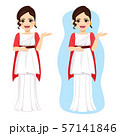 Beautiful young elegant roman woman with classic fashion Rome history dress 57141846