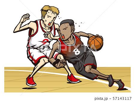 男子 バスケットボールのイラスト素材