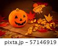 ハロウィン カボチャ お菓子 おもちゃカボチャ ハロウィーンイメージ 57146919
