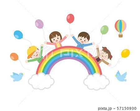 虹と子供1 57150930