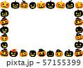 ハロウィン かぼちゃ フレーム ポストカード 57155399
