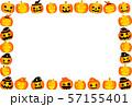 ハロウィン かぼちゃ フレーム ポストカード 57155401