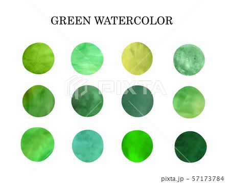 緑色 水彩模様1 57173784