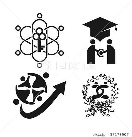 Commitment Teamwork Together Business Black Logo 57173907