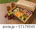 典型的な和食(弁当) Japanese style famous lunch box (bento) 57179545