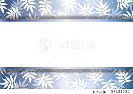 ベクターイラスト和風背景素材壁紙 夏 笹 竹の葉柄 若葉 新緑 タイトルスペース 無料 フリーサイズのイラスト素材