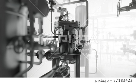 Abstract Industrial Equipment with smoke or fog 57183422