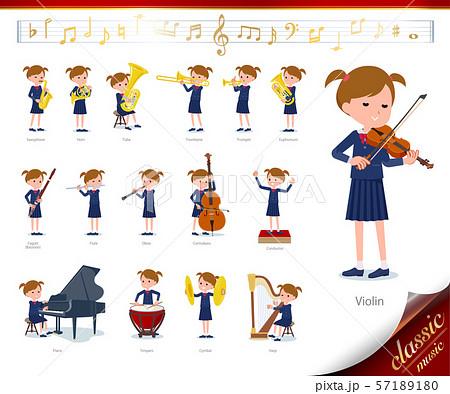 flat type primary school girl_classic music 57189180
