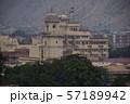 インドのジャイプル ピンクシティーの街並み 屋上にインド国旗を掲げた宮殿 57189942