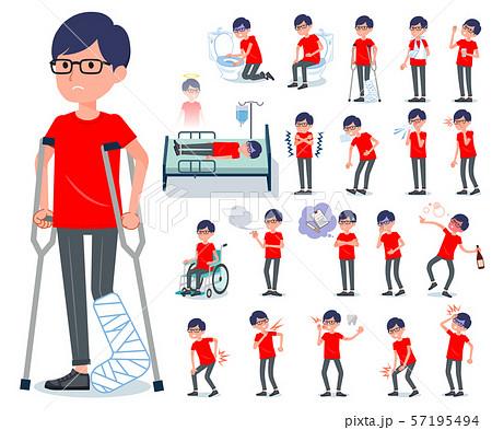 flat type red Tshirt Glasse men_sickness 57195494