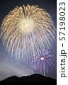 【夏イメージ】花火と天の川 57198023