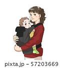 赤ちゃんを抱っこする若い母親 57203669