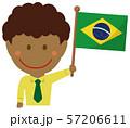 人種と国旗 / ビジネスマン・会社員  男性 上半身イラスト/ ブラジル 57206611