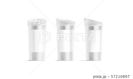 Blank silver travel mug with lid mockup set, different sides 57210897