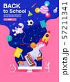 back to school ,inspiration, poster, flat design 57211341